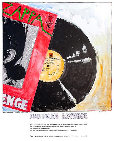 Chungas Revenge - Original EGET EIE 90x110cm. / Giclee 47X57cm 1800.-