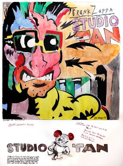 Studio Tan - Original 65x88cm 4000.- / Giclee 47x57cm  1800.-