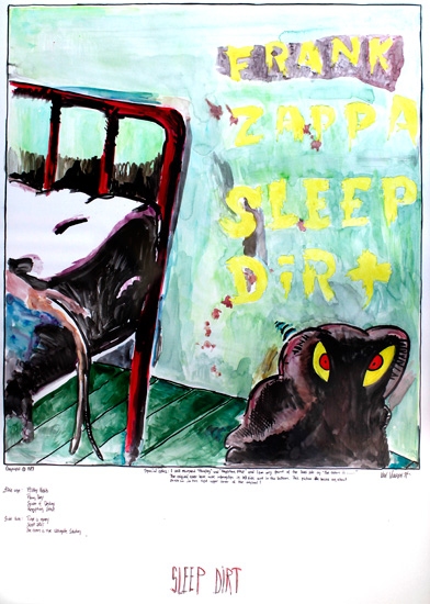 Sleep Dirt - Original 65x88cm. 4500.- / Kun original