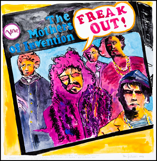 Freak Out - Original 50x51cm  4000.- / Giclee 57x57cm 1800.-