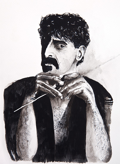 Zappa waiting for conducting - Original 40x50cm  2200.- / Kun original