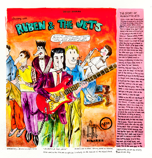 Ruben and the Jets - Original 60x62cm  6000.- / Giclee 57x57cm  1800.-