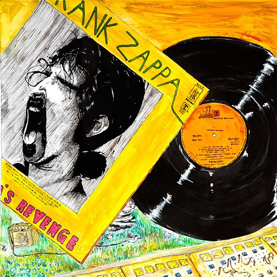 The Yellow Chungas - Original  87x87cm 7000.- / Kun original