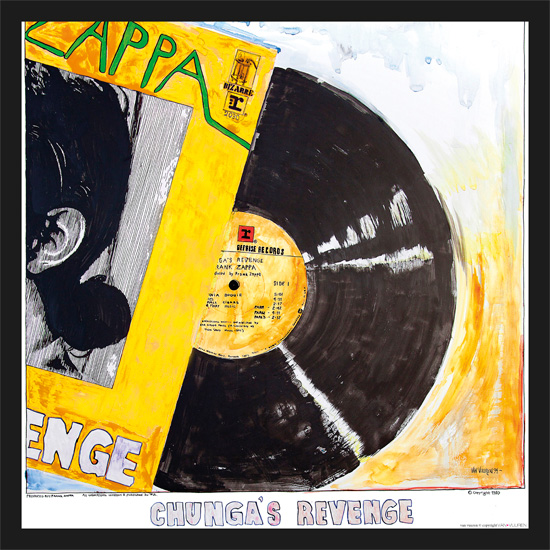 Yellow Chungas POSTER. ca 90x90cm Meget fin printkvalitet. Produsert for Zappaunion/Cosmopolite Nov. 2015. Finnes i kun 1 stk: 800.-